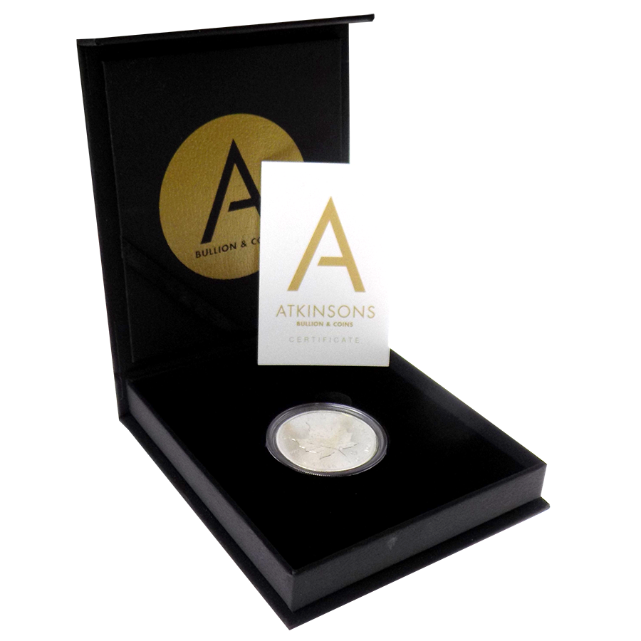 2018 Canadian Maple 1oz Silver Coin with Gift Box & Certificate