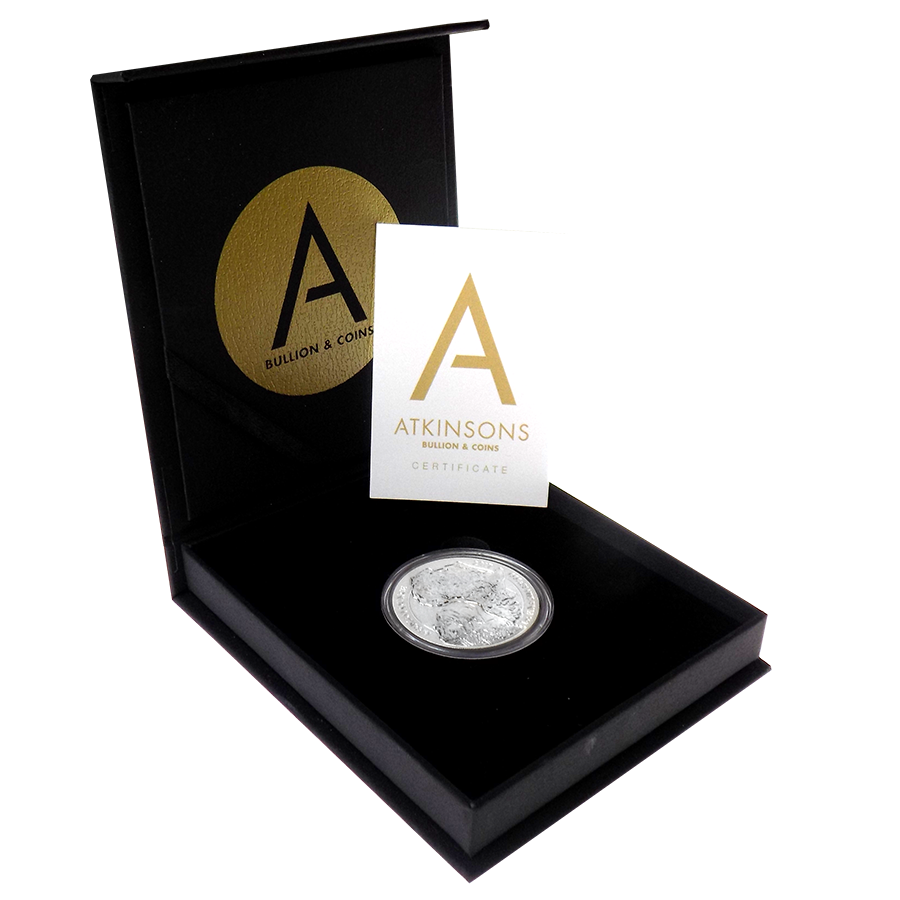 2017 Rwanda African Hippo 1oz Silver Coin with Gift Box & Certificate