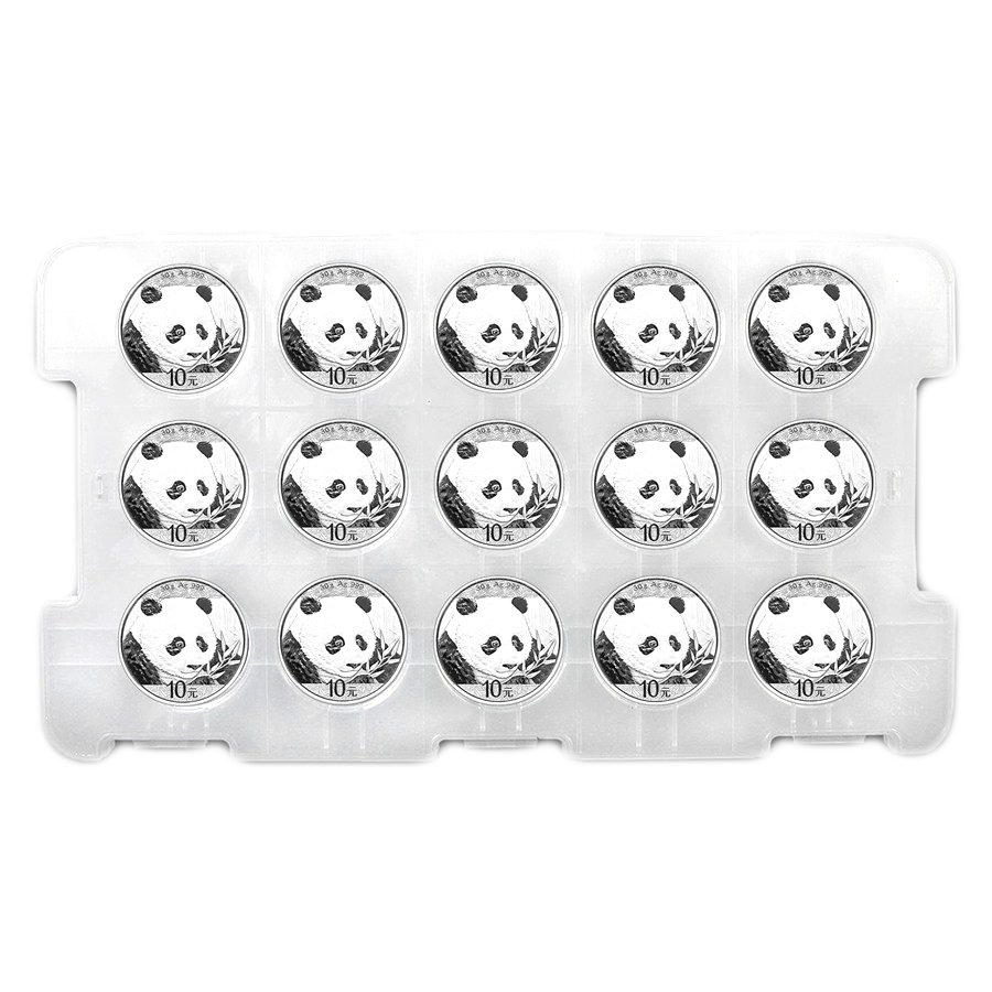 2018 Chinese Panda 30g Silver Coin Bundle - 15 Coins
