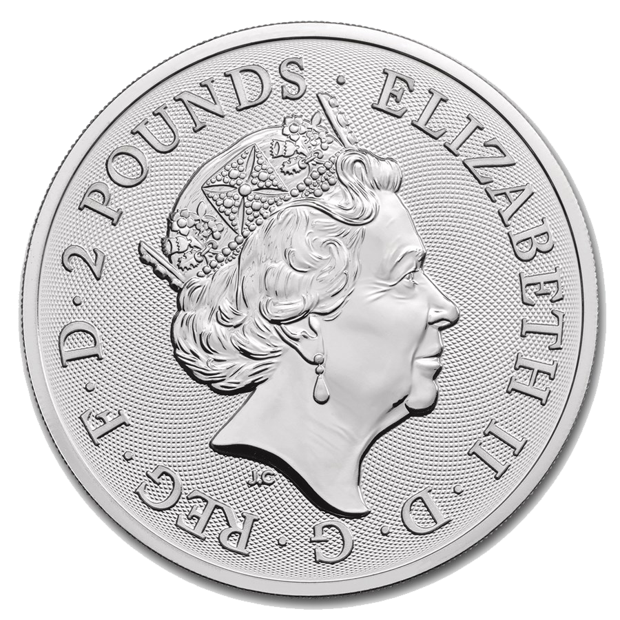 2019 UK Lunar Pig 1oz Silver Coin - Full Roll of 20 Coins (Image 3)