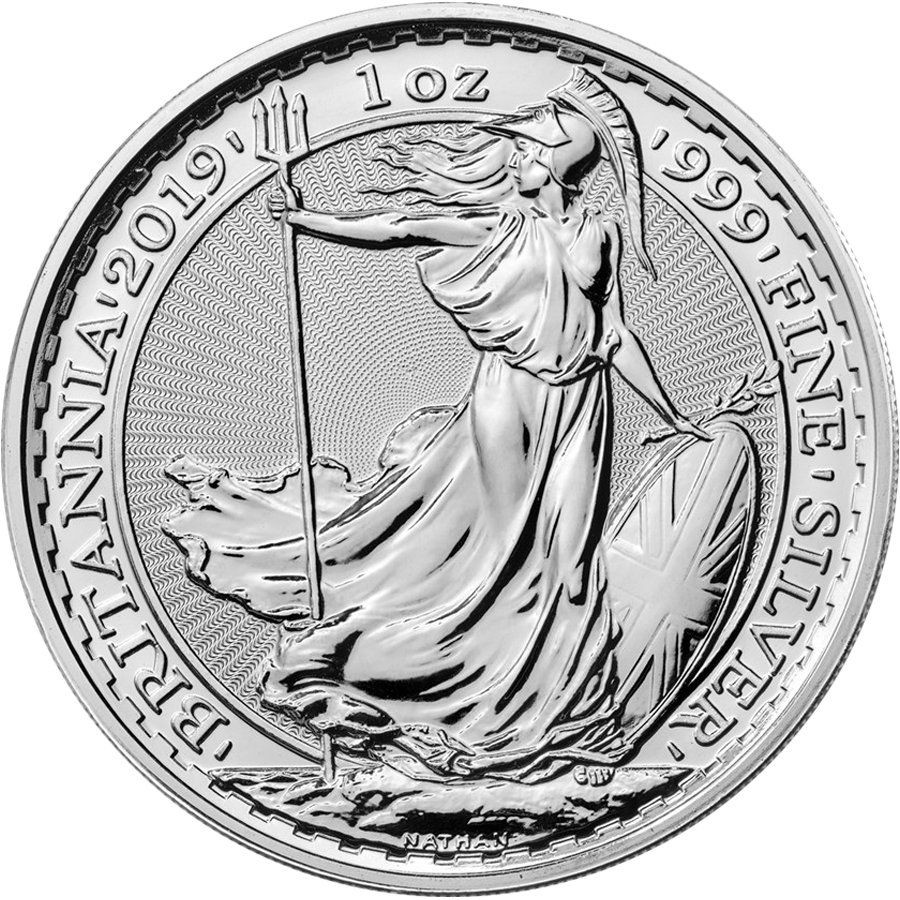 2019 UK Britannia 1oz Silver Coin - Full Tube of 25 Coins (Image 2)
