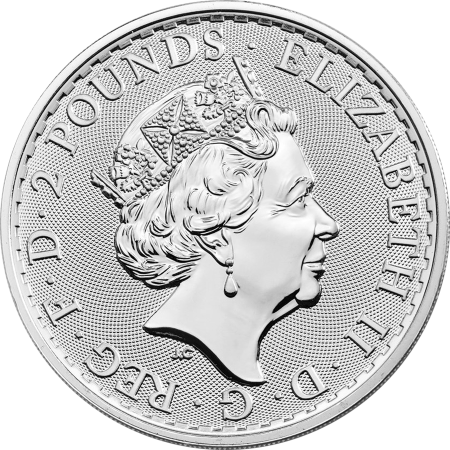 2019 UK Britannia 1oz Silver Coin - Full Tube of 25 Coins (Image 3)