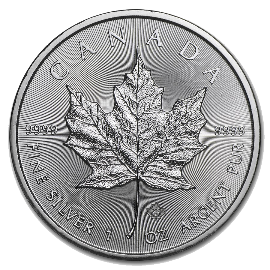 2019 Canadian Maple 1oz Silver Coin - Full Tube of 25 Coins (Image 2)