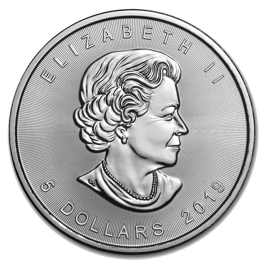 2019 Canadian Maple 1oz Silver Coin - Full Tube of 25 Coins (Image 3)
