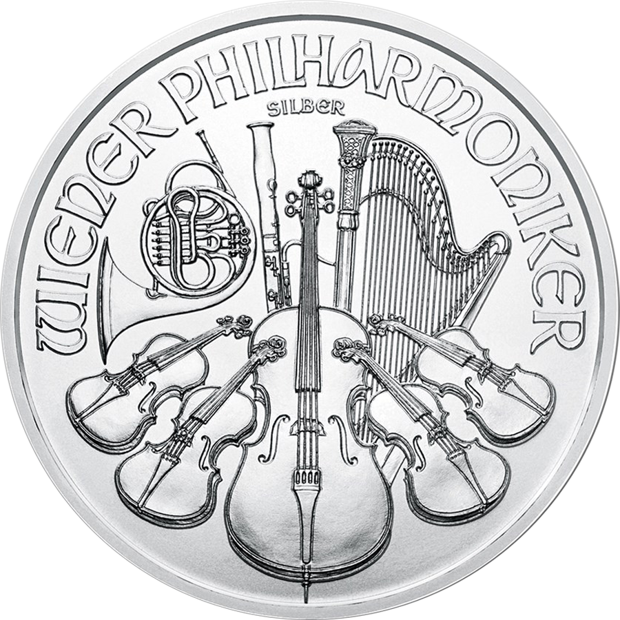 2019 Austrian Philharmonic 1oz Silver Coin - Full Tube of 20 Coins (Image 2)