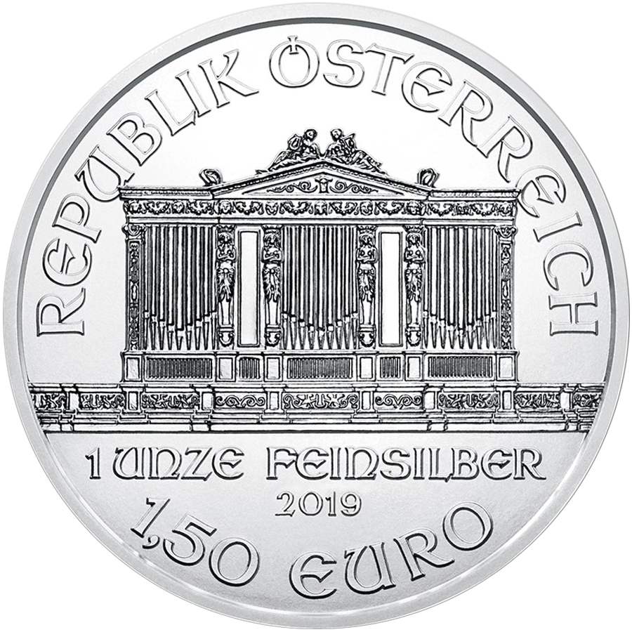 2019 Austrian Philharmonic 1oz Silver Coin  - Monster Box of 500 Coins (Image 4)