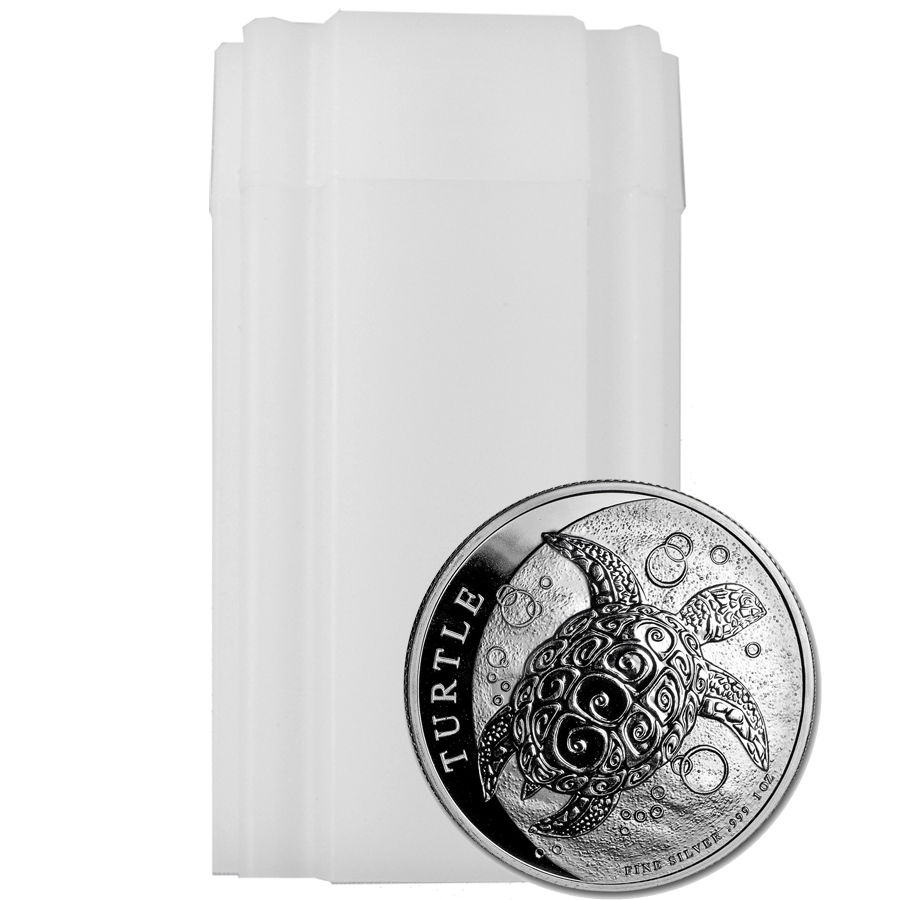 2019 Niue Hawksbill Turtle 1oz Silver Coin - Full Tube of 25 Coins