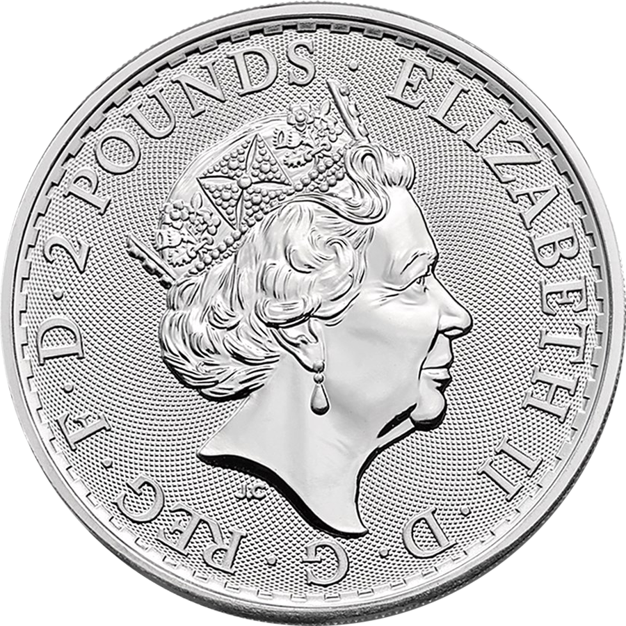 2018 & 2019 UK Britannia Oriental Border 1oz Silver Coin - 2 Coin Collection (Image 2)