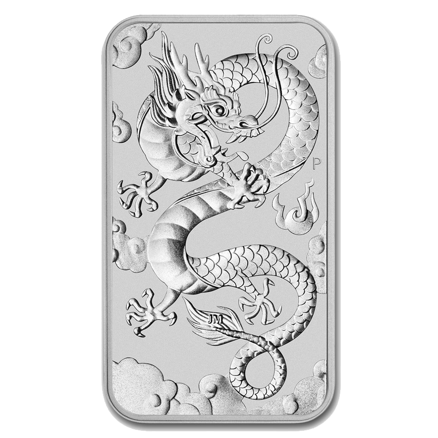 2019 Australian Dragon Rectangular 1oz Silver Coin - Full Tube of 20 Coins (Image 2)