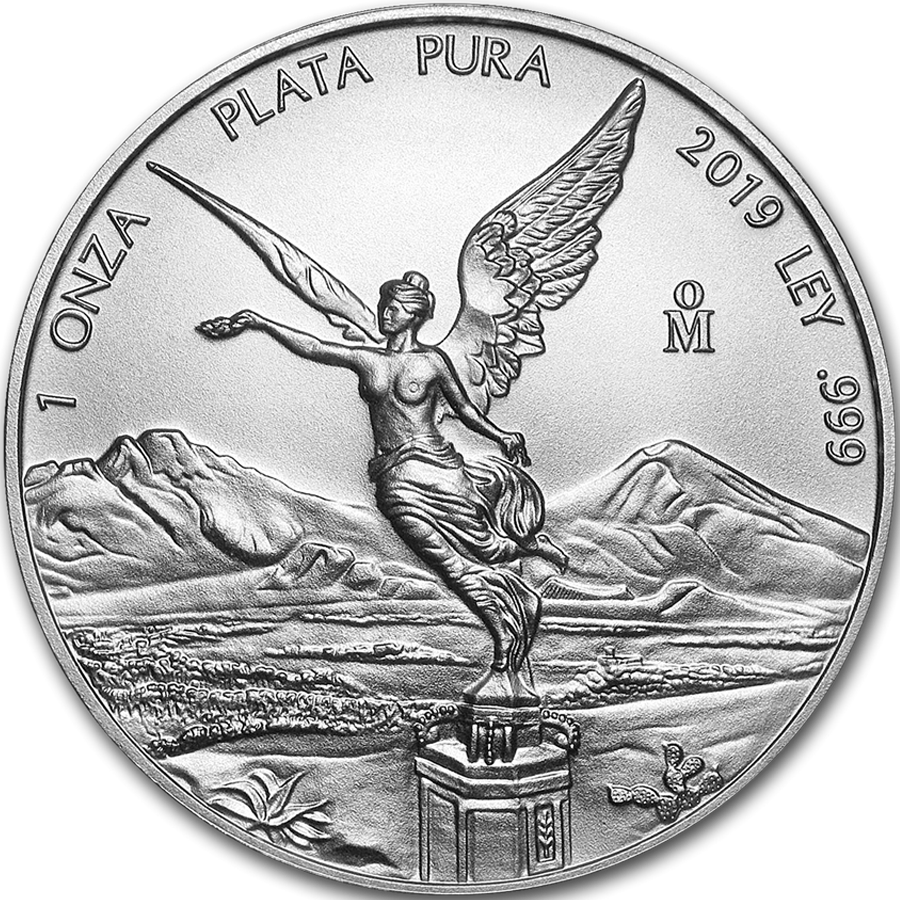 2019 Mexican Libertad 1oz Silver Coin - Full Tube of 25 Coins (Image 2)