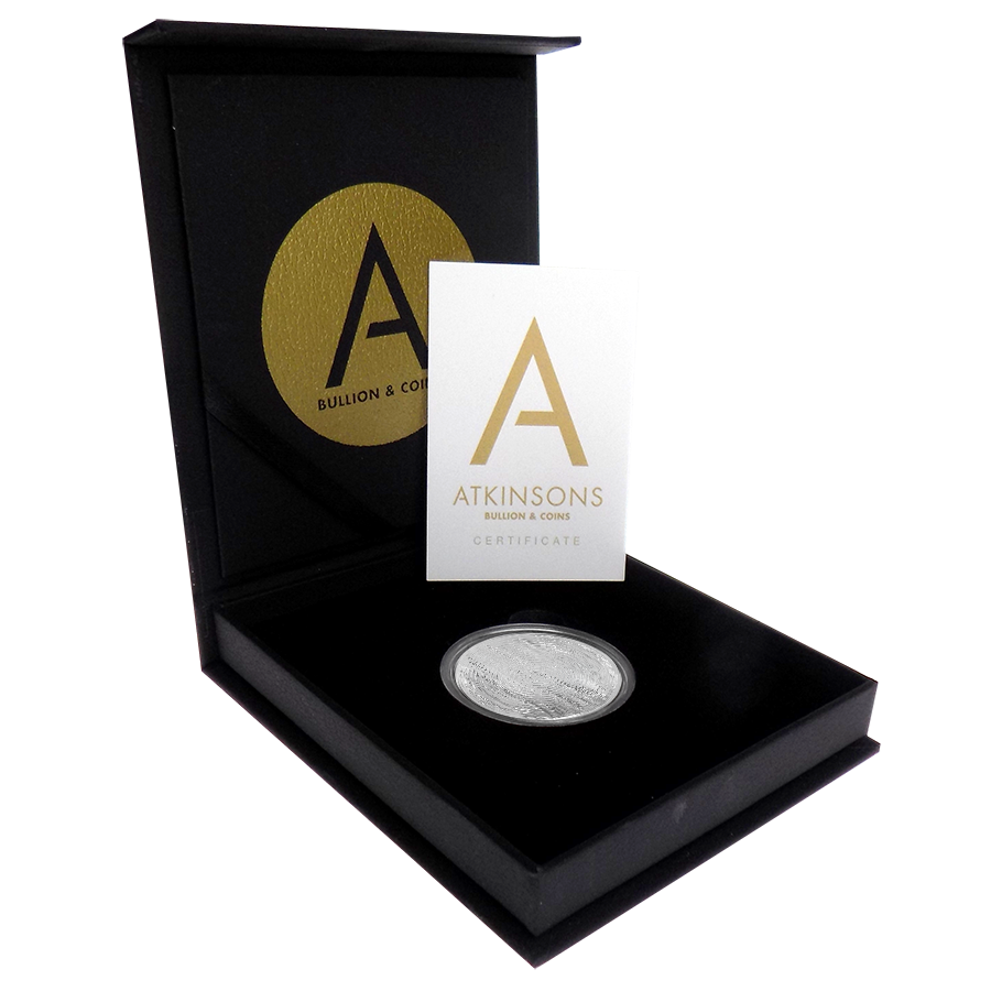 2019 South African Krugerrand 1oz Silver Coin with Gift Box & Certificate (Image 1)