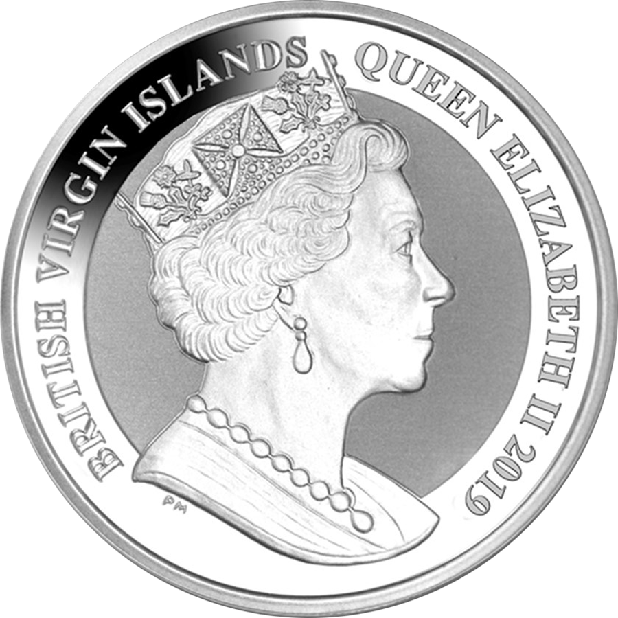 2019 British Virgin Islands Una & The Lion 1oz Silver Frosted Coin with Gift Box & Certificate (Image 3)