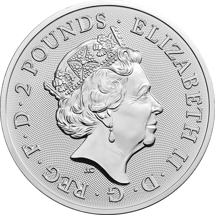2019 UK Coat of Arms 1oz Silver Coin - Full Tube of 25 Coins (Image 3)