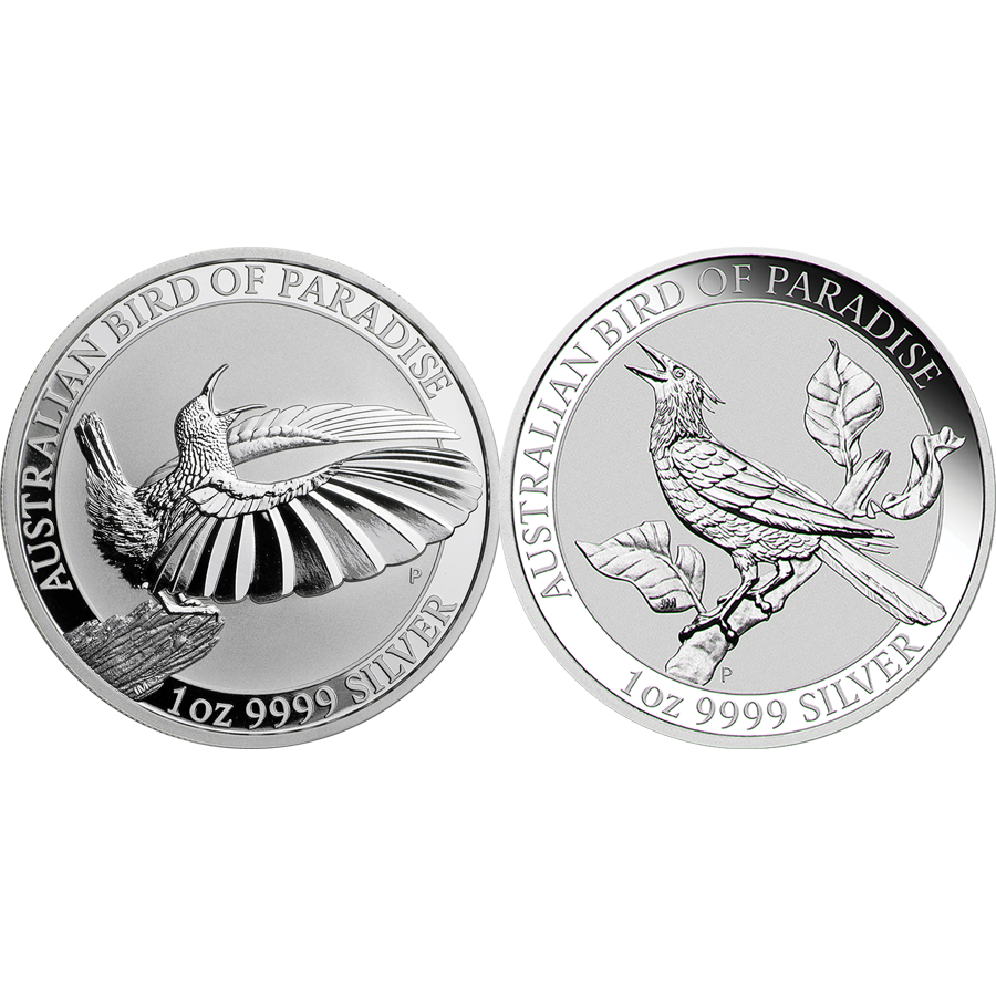 2018 - 2019 Australian Bird of Paradise 1oz Silver Coin Collection - 2 Coins