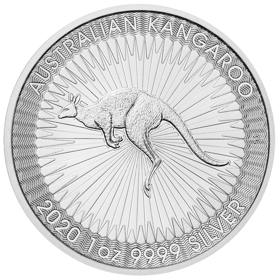 2020 Australian Kangaroo 1oz Silver Coin - Full Tube of 25 Coins (Image 2)