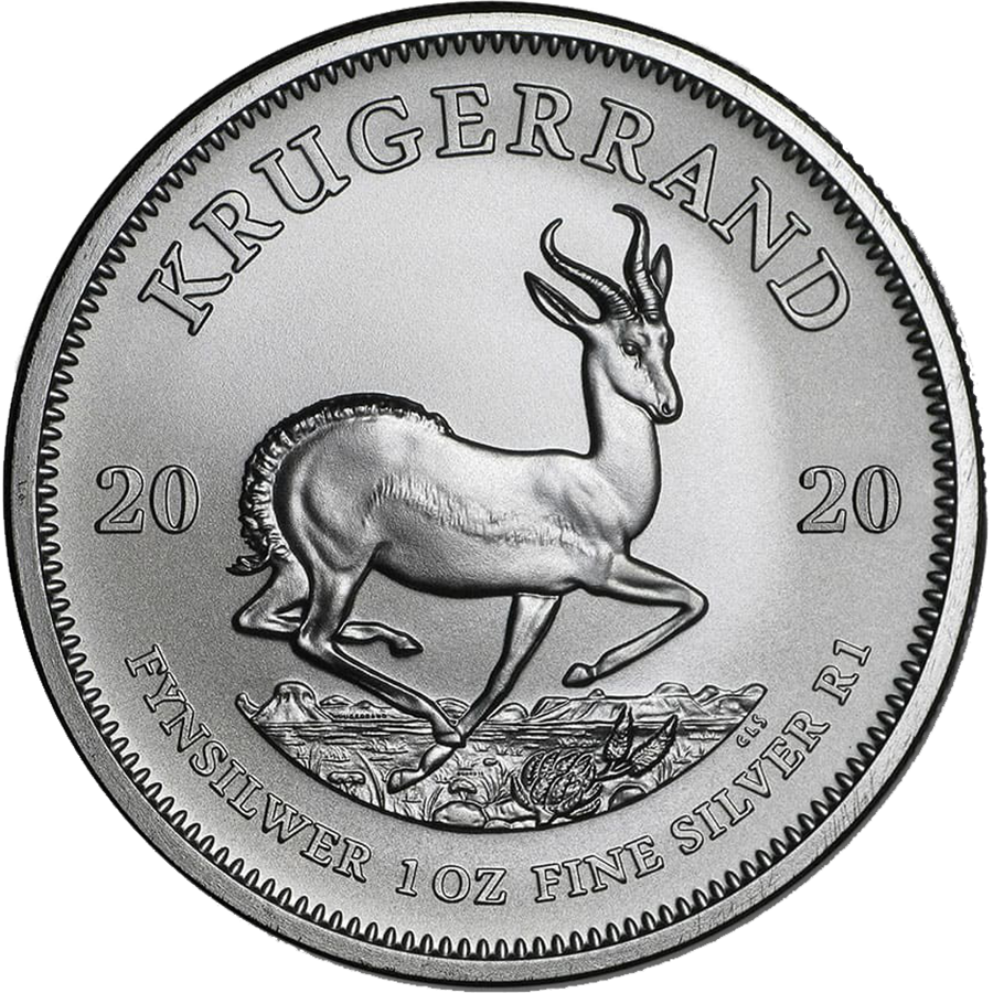 2020 South African Krugerrand 1oz Silver Coin - Full Tube of 25 Coins (Image 2)