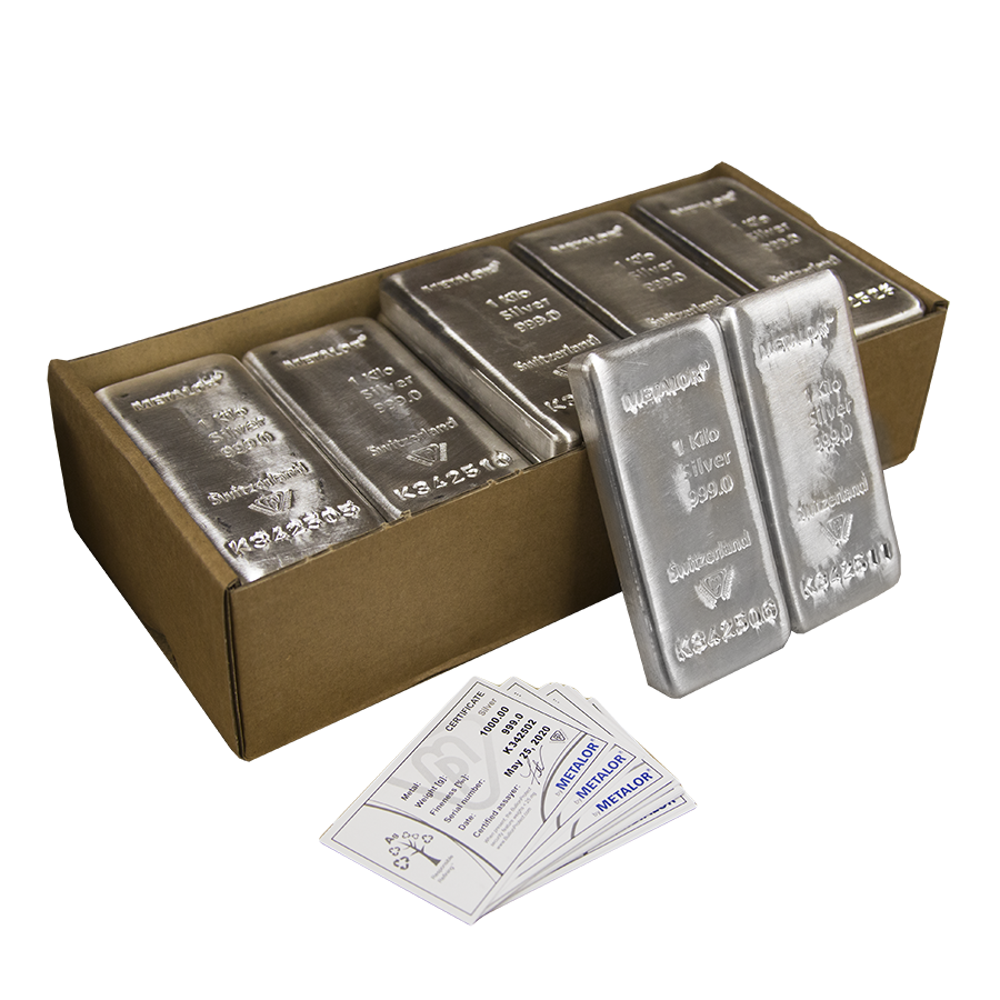 Metalor 1kg Silver 25 Bar Bundle