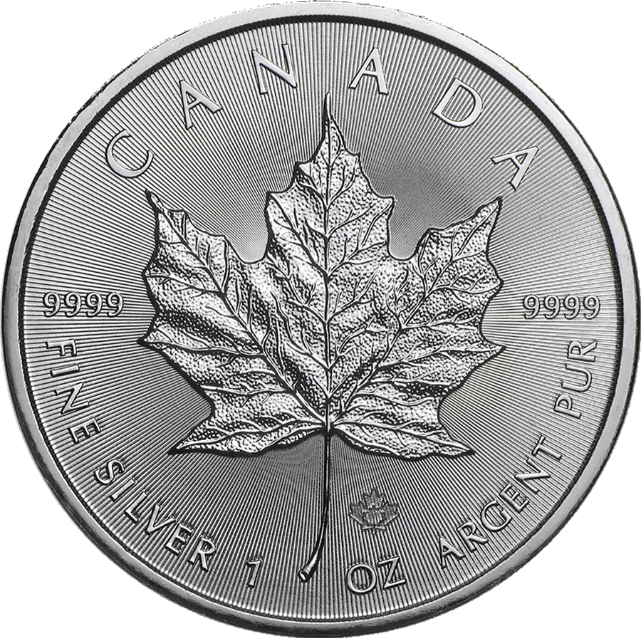 2021 Canadian Maple 1oz Silver Coin - Full Tube of 25 Coins (Image 2)