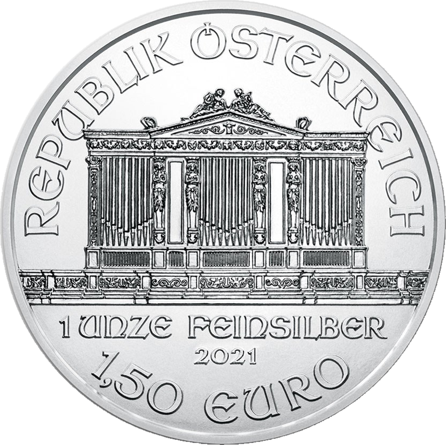 2021 Austrian Philharmonic 1oz Silver Coin - Monster Box of 500 Coins (Image 4)