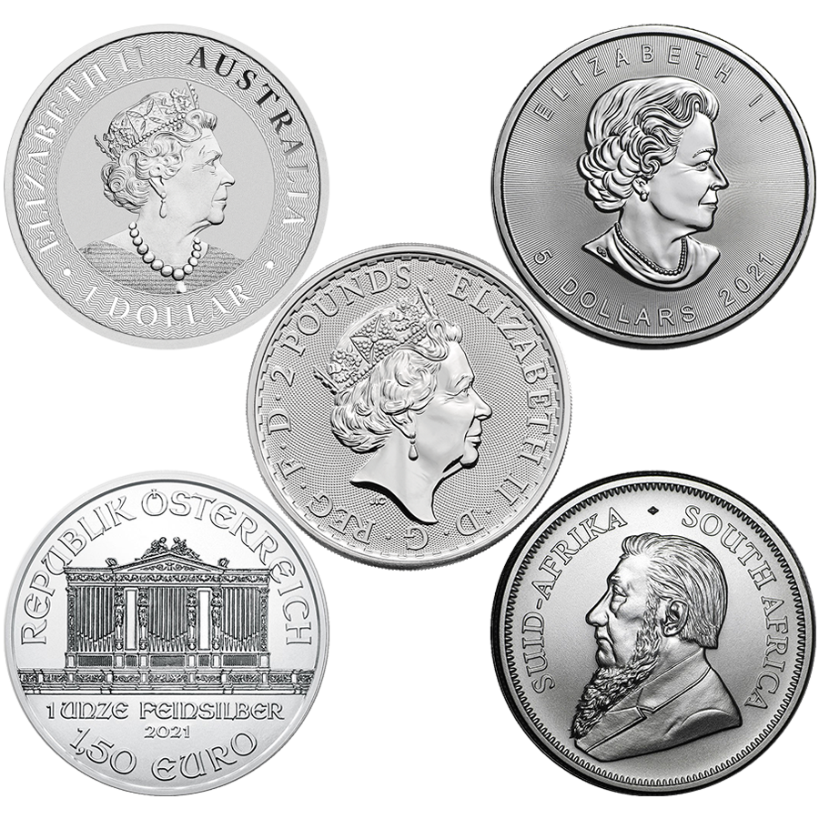 2021 Most Popular 1oz Silver Coin Collection - 5 Coins (Image 2)