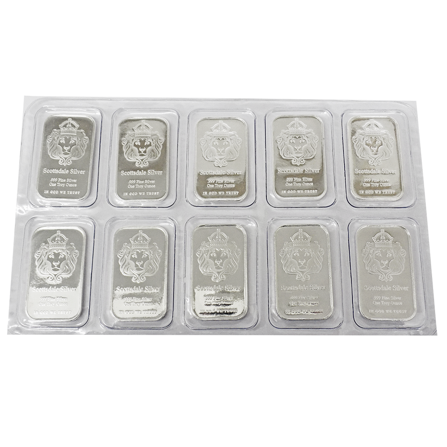 Scottsdale Mint 1oz 'The One' Silver 10 Bar Bundle