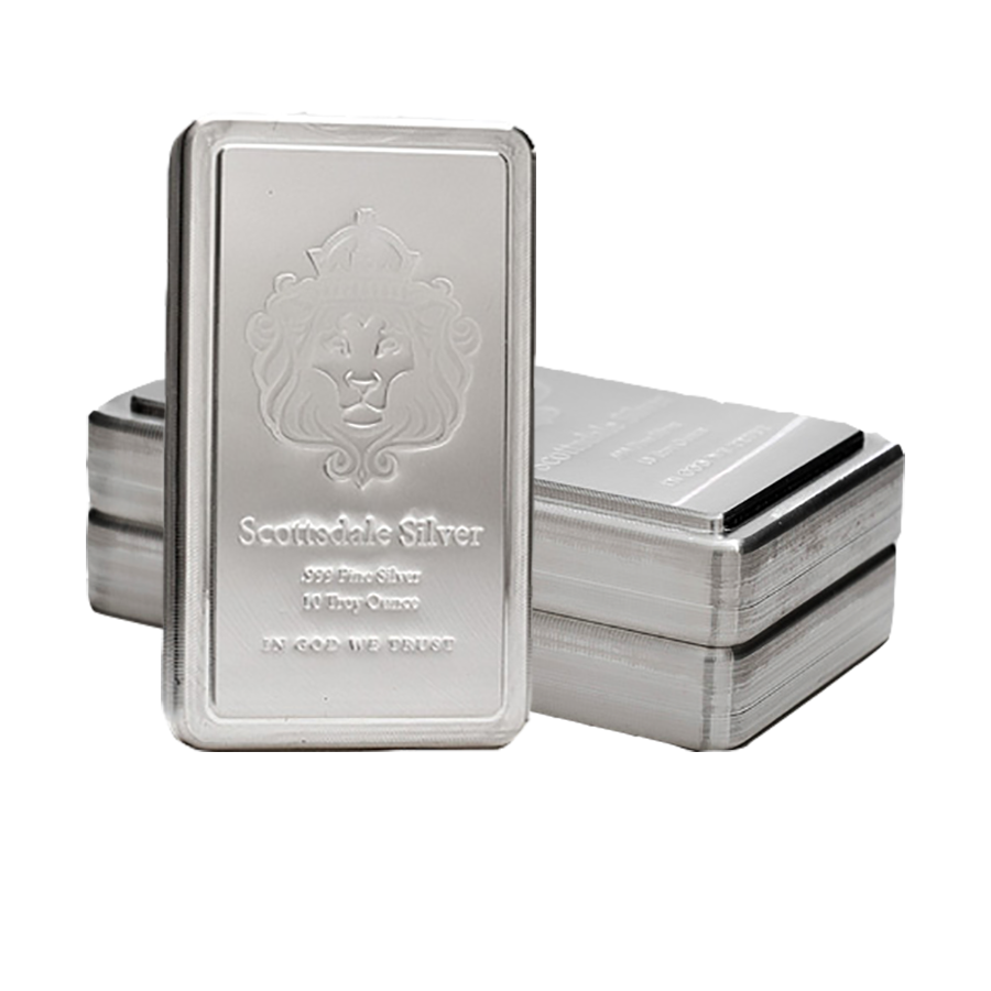 Scottsdale Mint 10oz Stacker Silver 3 Bar Bundle