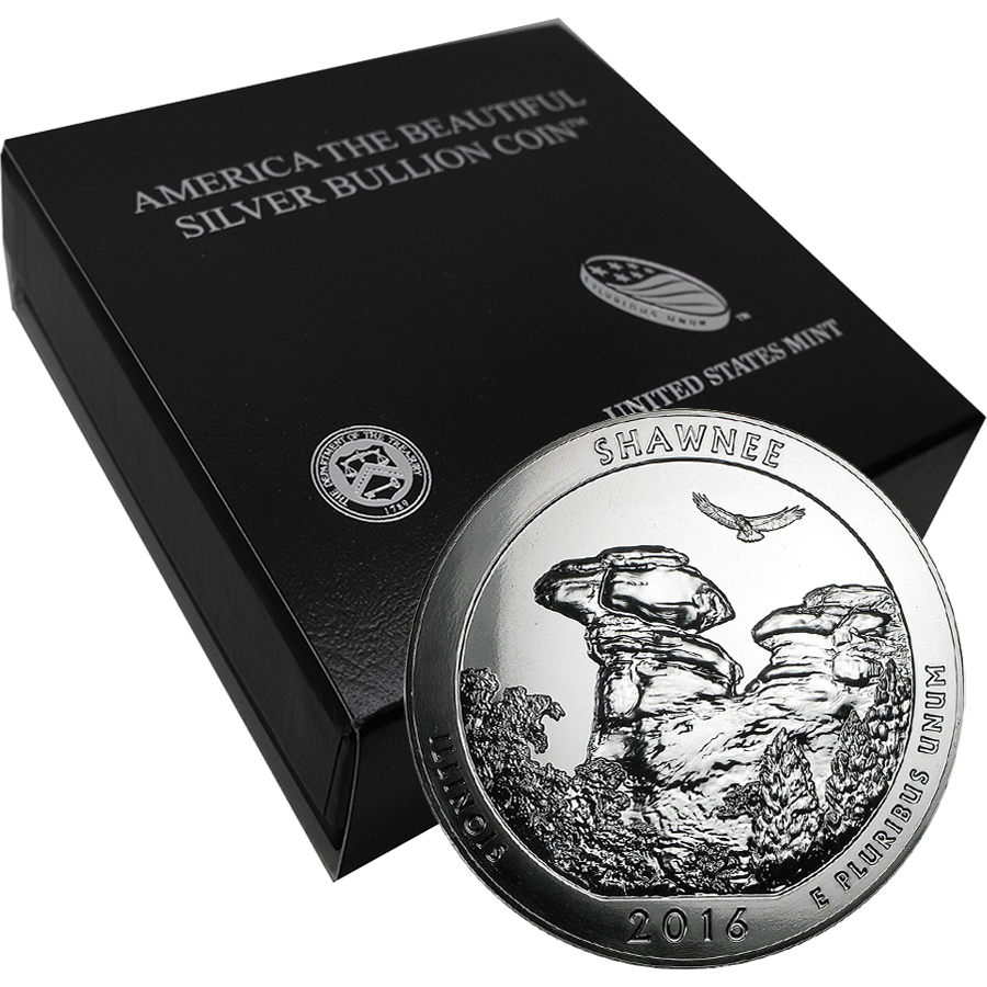 2016 ATB Shawnee National Forest 5oz Silver Coin with Gift Box