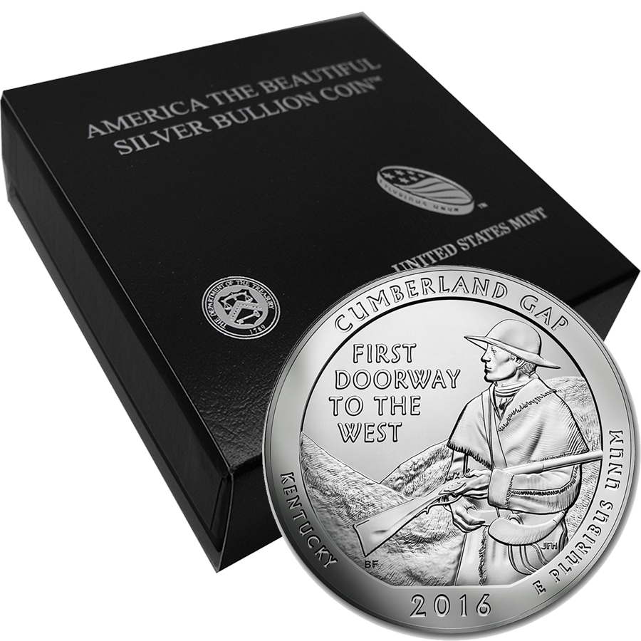 2016 ATB Cumberland Gap 5oz Silver Coin with Gift Box