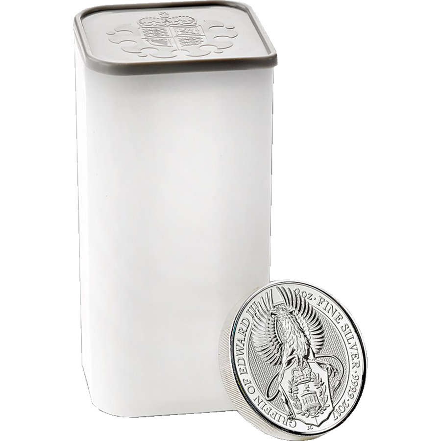 2017 UK Queen's Beasts The Griffin 2oz Silver 200 Coin Monster Box (Image 2)