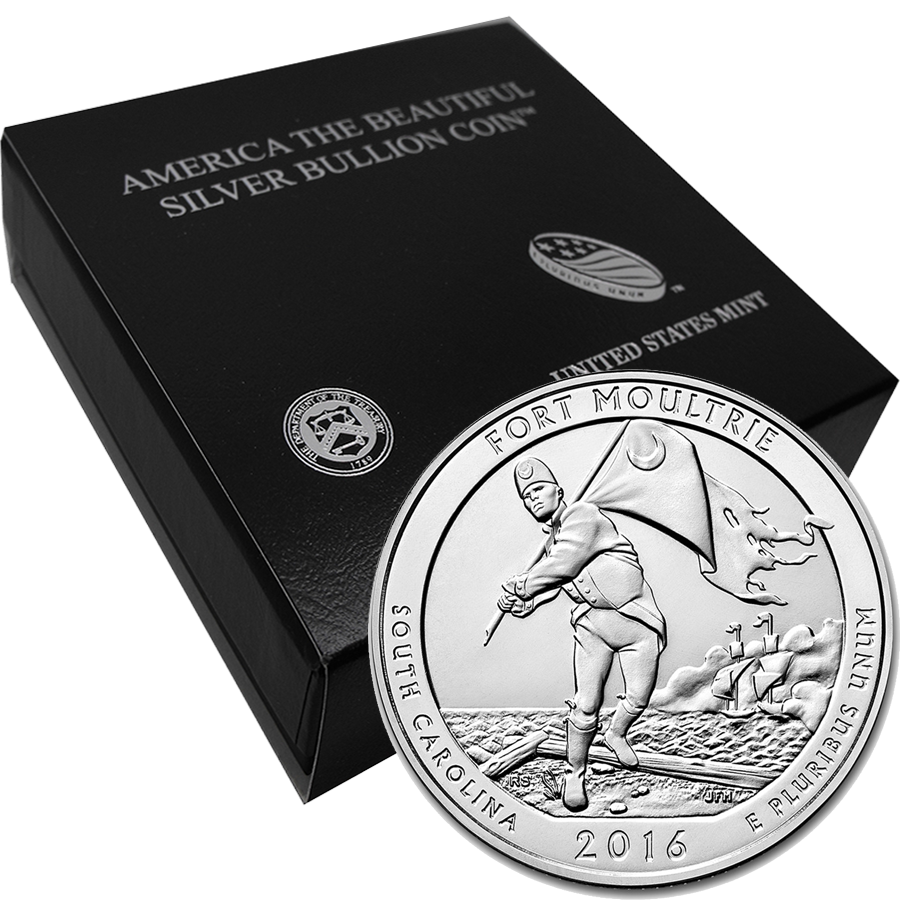 2016 ATB Fort Moultrie 5oz Silver Coin with Gift Box