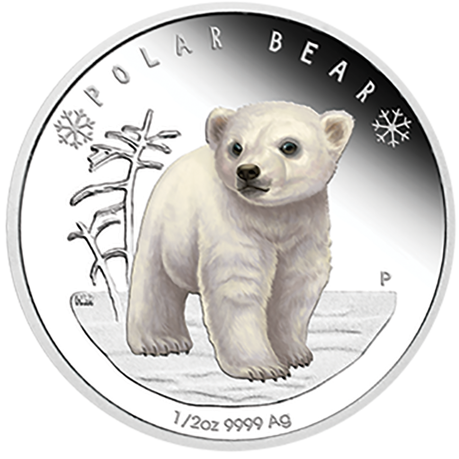 2017 Australian Polar Bear Babies 1/2oz Silver Proof Coin