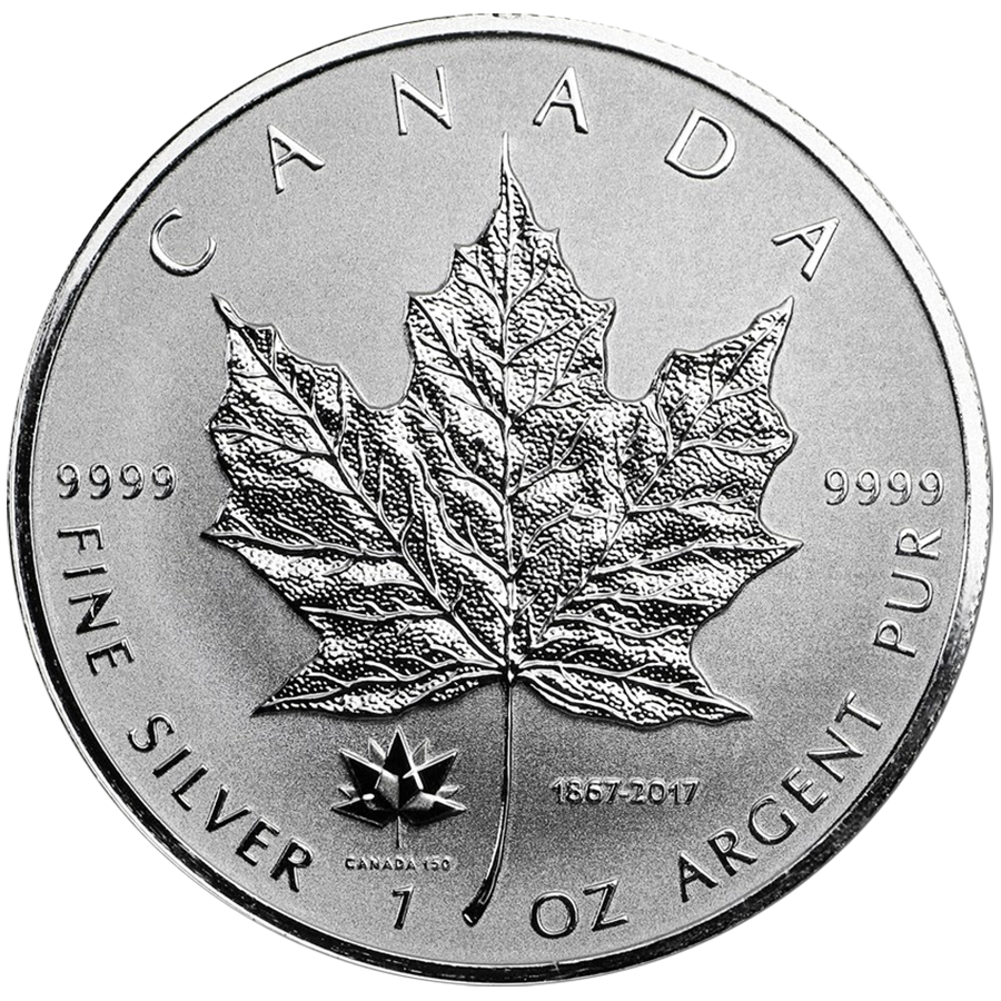 2017 Canadian Maple 150th Anniversary Privy 1oz Silver Coin