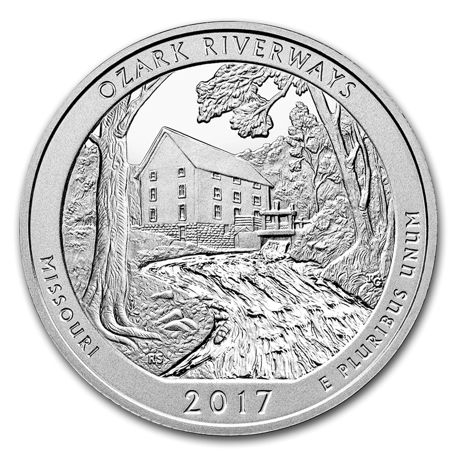 2017 ATB Ozark National Scenic Riverways 5oz Silver Coin