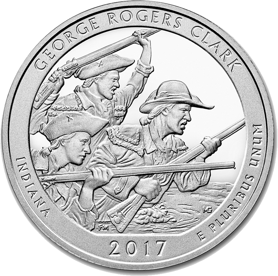 2017 ATB George Rogers Clark 5oz Silver Coin