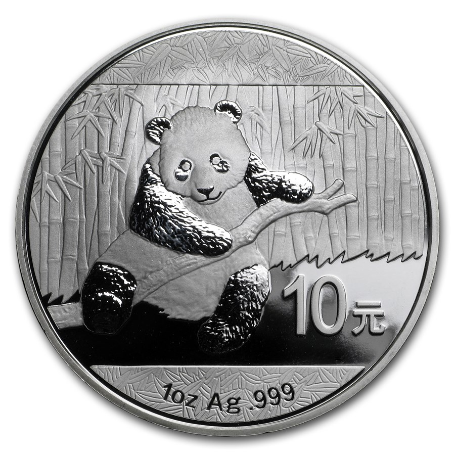 Pre-Owned 2014 Chinese Panda 1oz Silver Coin - VAT Free