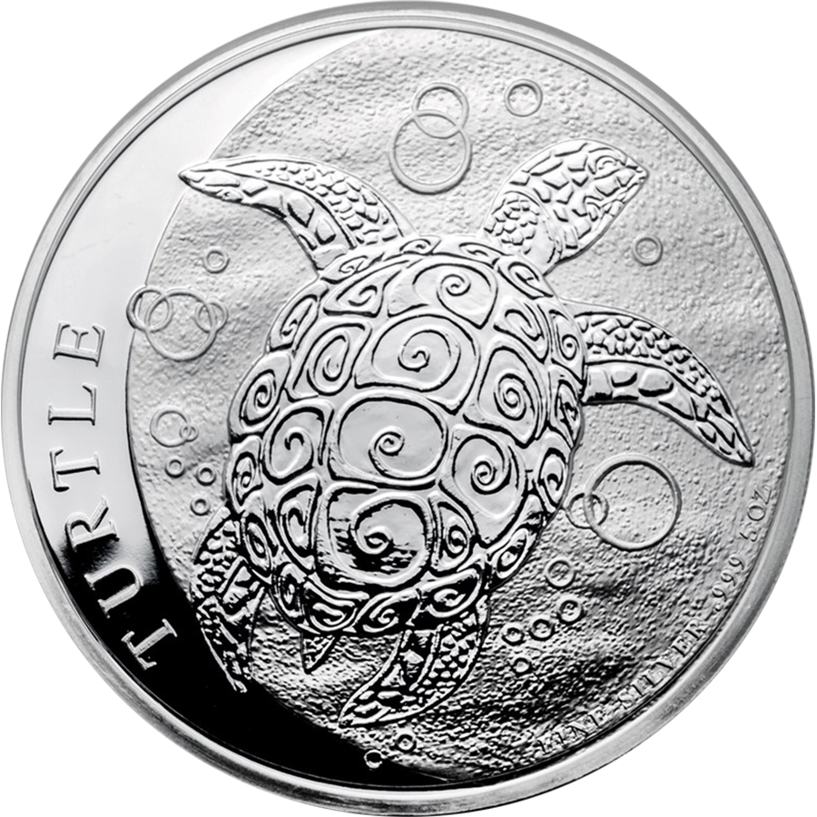 2017 Niue Hawksbill Turtle 5oz Silver Coin