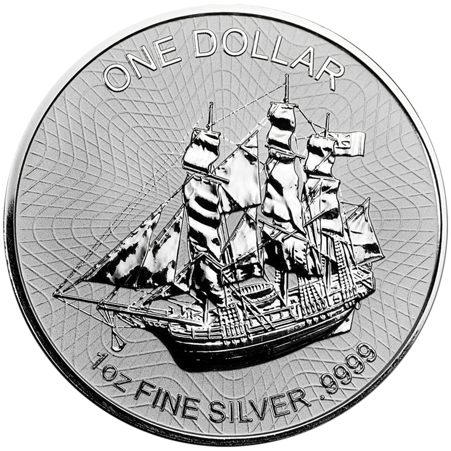 Cook Islands Bounty 1oz Silver Coins Free Delivery