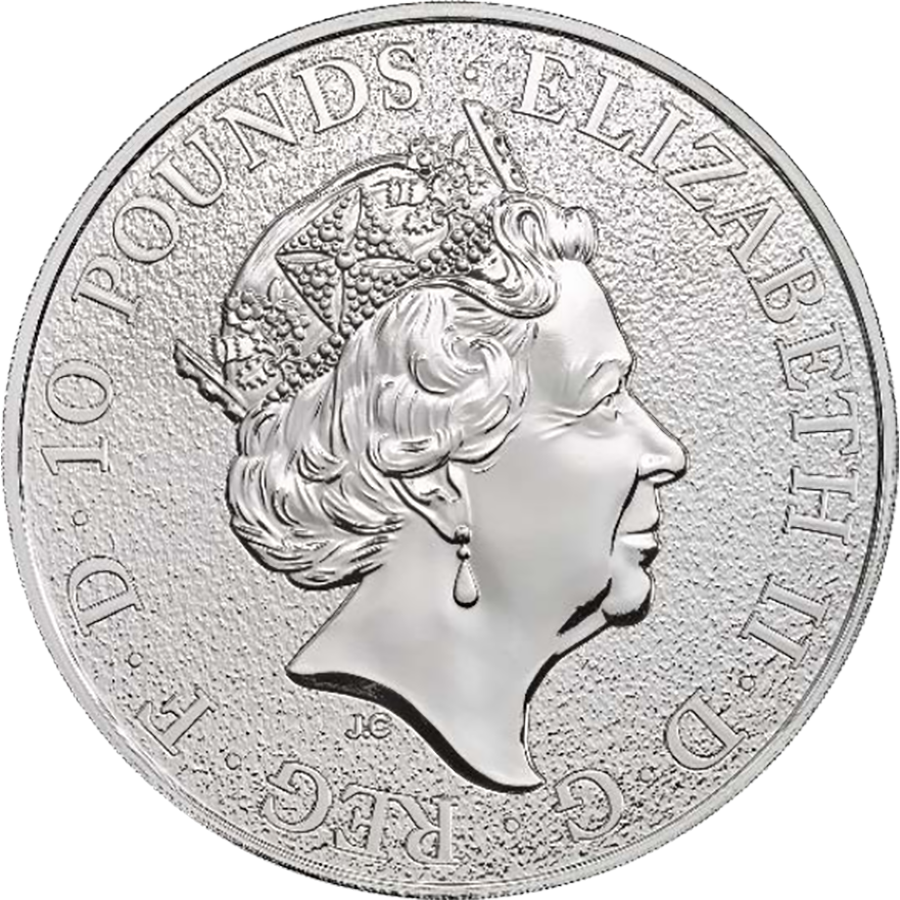 2017 UK Queen's Beasts The Lion 10oz Silver Coin (Image 2)