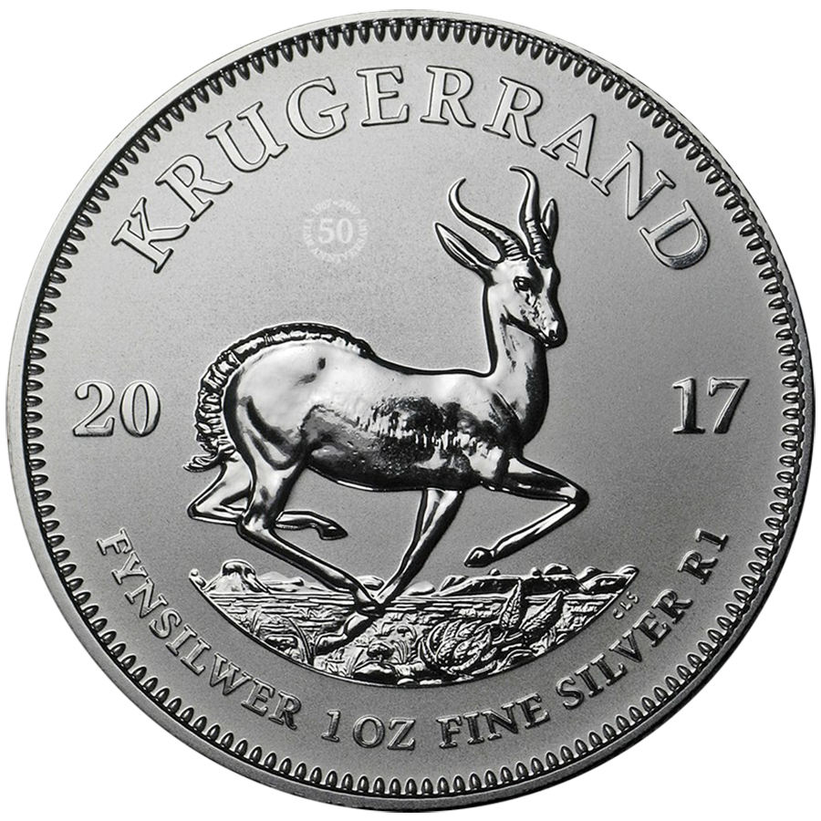 2017 South African Krugerrand Premium Uncirculated 1oz Silver Coin (Image 1)