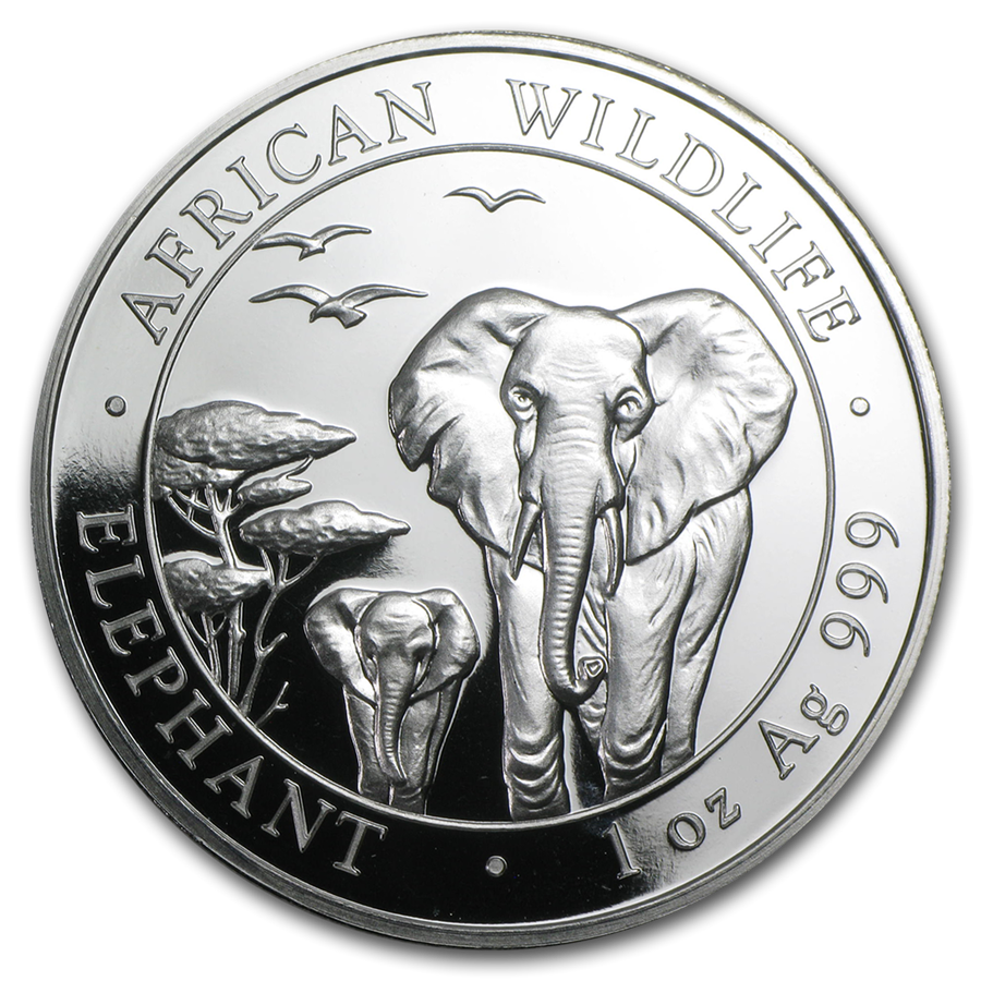 Pre-Owned 2015 Somalian Elephant 1oz Silver Coin - VAT Free
