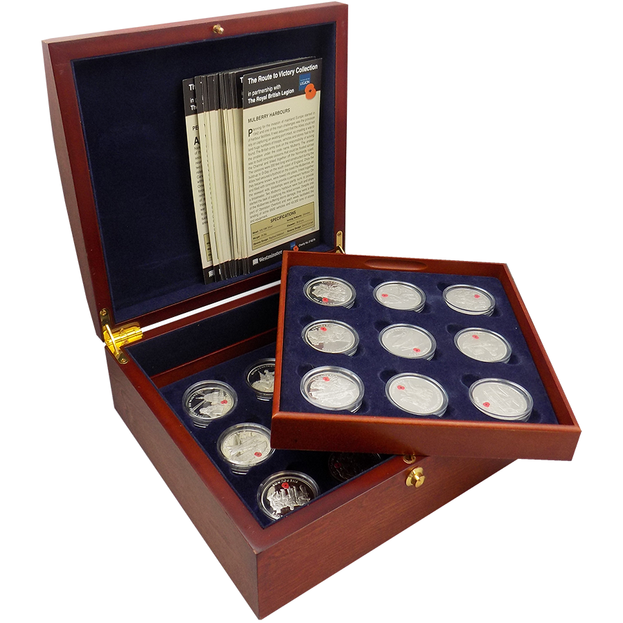 Pre-Owned 2004 UK Proof Route to Victory £5 Silver Coin Collection - VAT Free