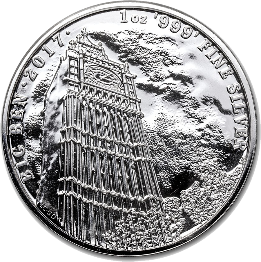 2017 UK Landmarks of Britain Big Ben 1oz Silver Coin