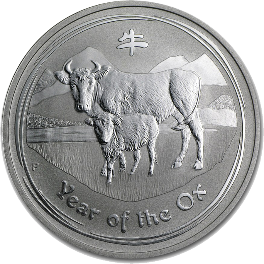 Pre-Owned 2009 Australian Lunar Ox 1oz Silver Coin - VAT Free