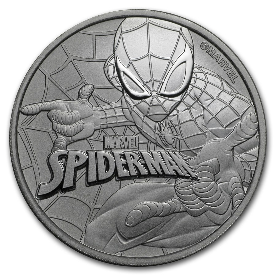 2017 Tuvalu Marvel Series - Spider-Man 1oz Silver Coin