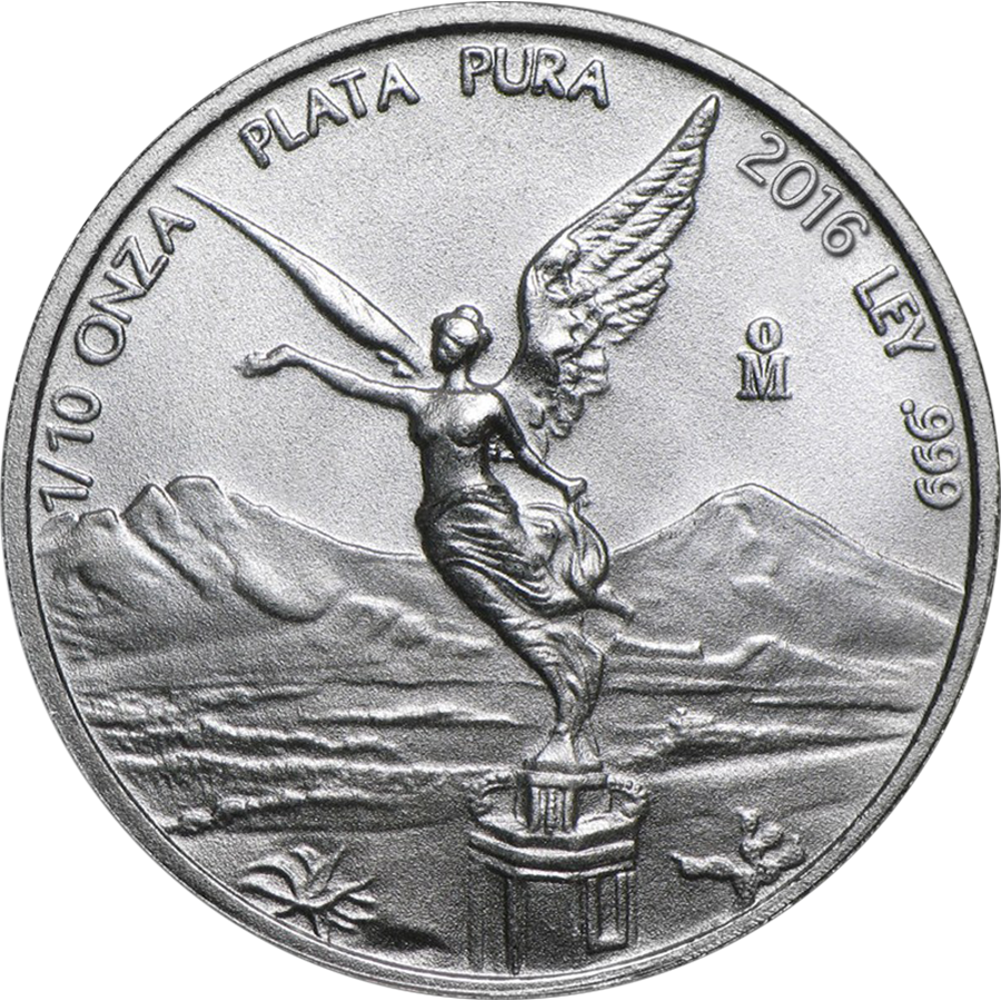 Pre-Owned 2016 Mexican Libertad 1/10oz Silver Coin - VAT Free
