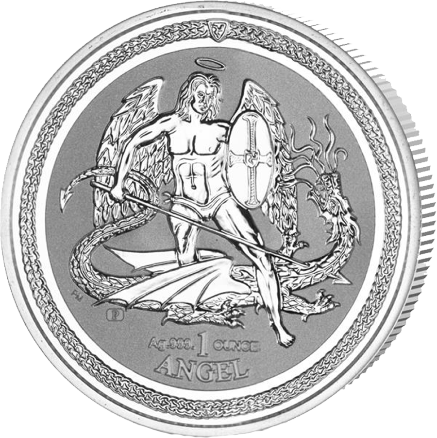 Pre-Owned 2016 Isle of Man Angel Reverse Proof 1oz Silver Coin - VAT Free (Image 1)