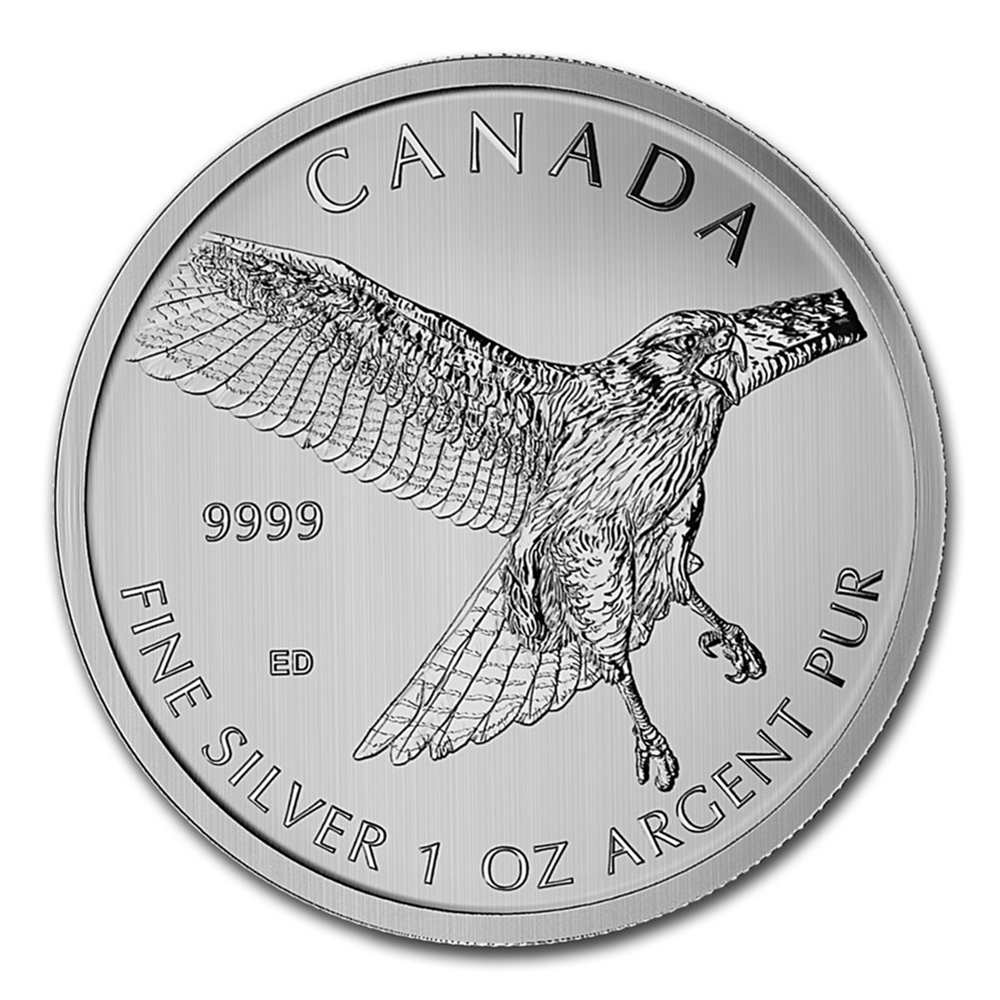 Pre-Owned 2015 Canadian Red-Tailed Hawk 1oz Silver Coin - VAT Free