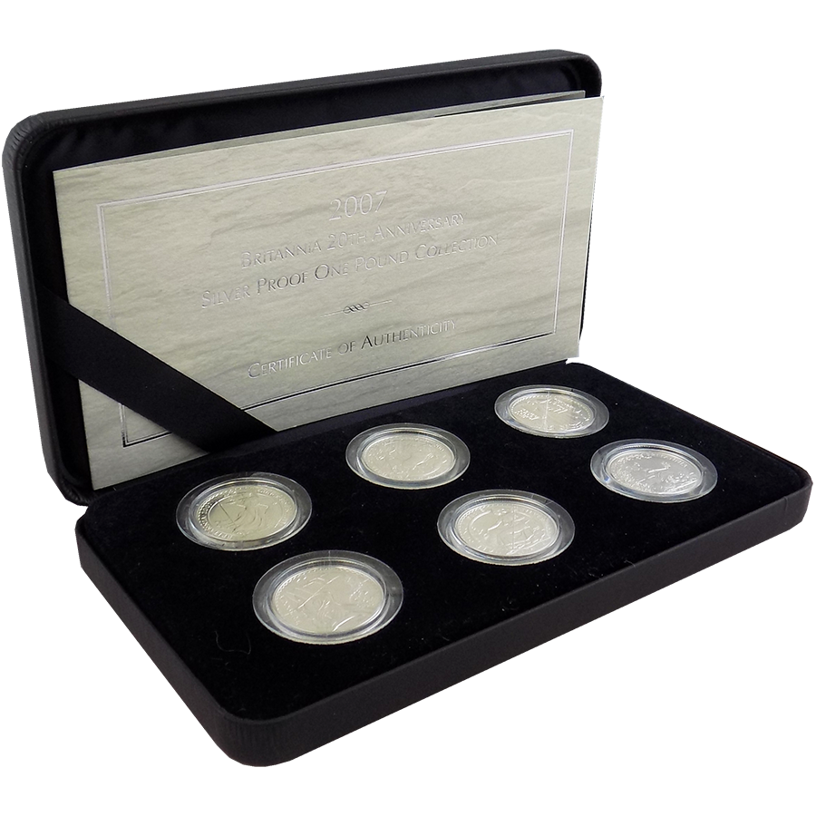 Pre-Owned 2007 UK Britannia 1/2oz 6 Silver Proof Coin Set - VAT Free