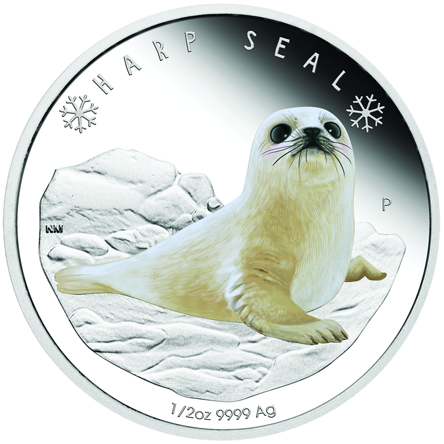 2017 Australian Polar Babies Harp Seal 1/2oz Silver Proof Coin