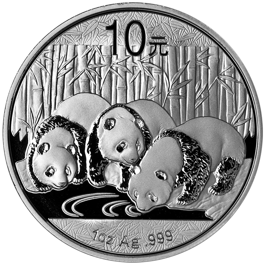 Pre-Owned 2013 Chinese Panda 1oz Silver Coin - VAT Free